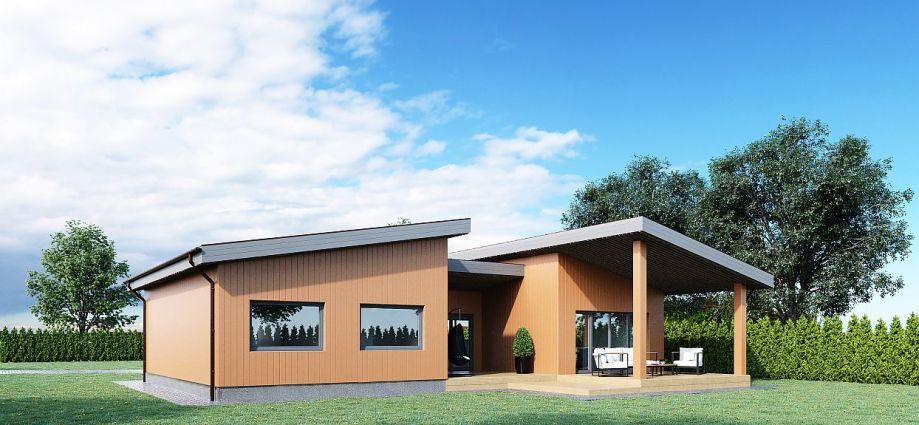 Architektai, Namu projektai, Karkasiniai namai, karkasinio namo projektas