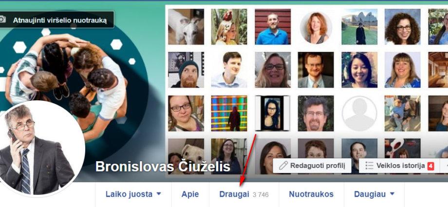 Facebook draugai