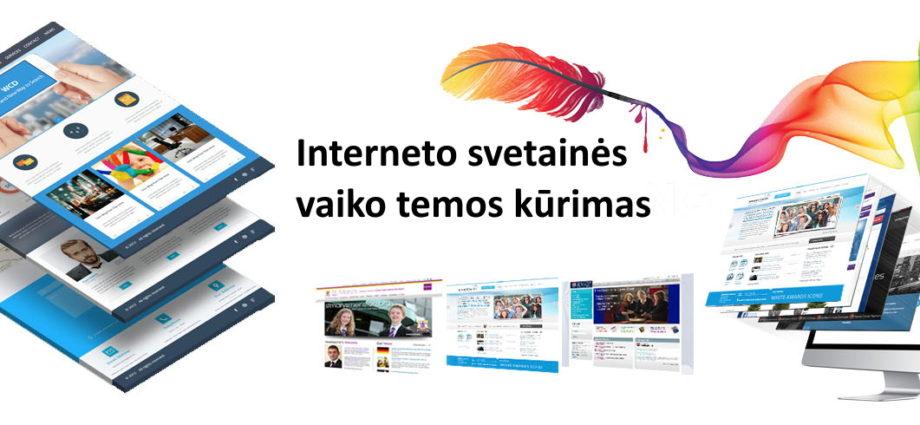 Interneto svetainės vaiko tema